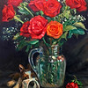 """Rose"" (oil) by Yuezhi Zhang"
