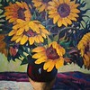 """Sunflower"" (oil pastel) by Li Ba"
