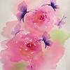 """""""Butterfly waltz"""" (watercolor) by Alfia Ishkaeva"""