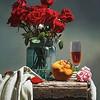 """""""Roses in a bottle"""" (oil) by XiaoWei Liu"""