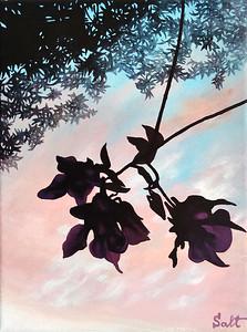 """""""Sundown"""" (acrylic on canvas) by Alyona Borisova"""
