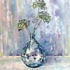 """""""Bouquet in a glass vase"""" (oil) by Kateryna Ivonina"""