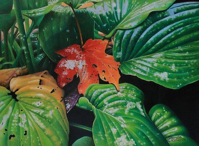 """""""Clash of The Seasons"""" (colored pencil) by Pamela Clements"""