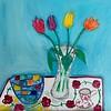 """Flowers In a Vase"" (oil) by Pamela Malone"
