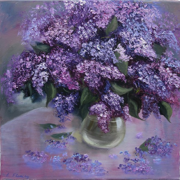 """""""Lilac Mood"""" (oil) by Elena Fleming"""