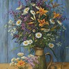 """Rustic bouquet"" (oil on canvas) by Tatiana Chepkasova"