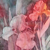 """Iris at Twilight"" (watercolor on gesso) by Elizabeth Burin"