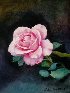 """""""Rose flowers"""" (watercolor) by Liping Feng"""