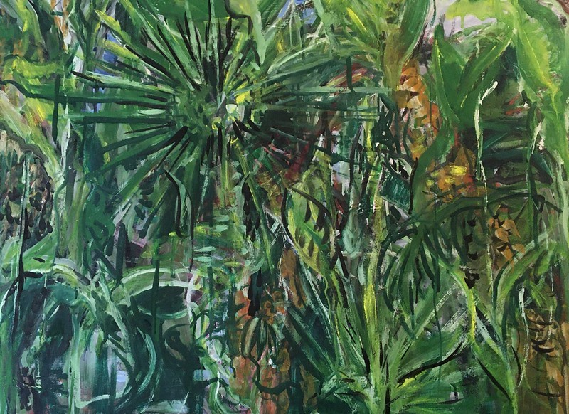 """""""Jungle Jungle"""" (acrylic and egg tempera on paper) by Gay Cox"""