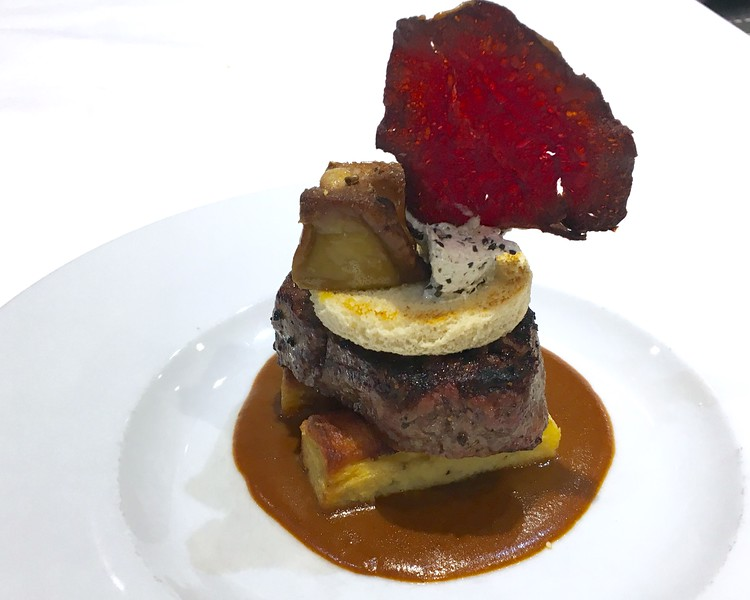 Biftek Rossini with cognac sauce