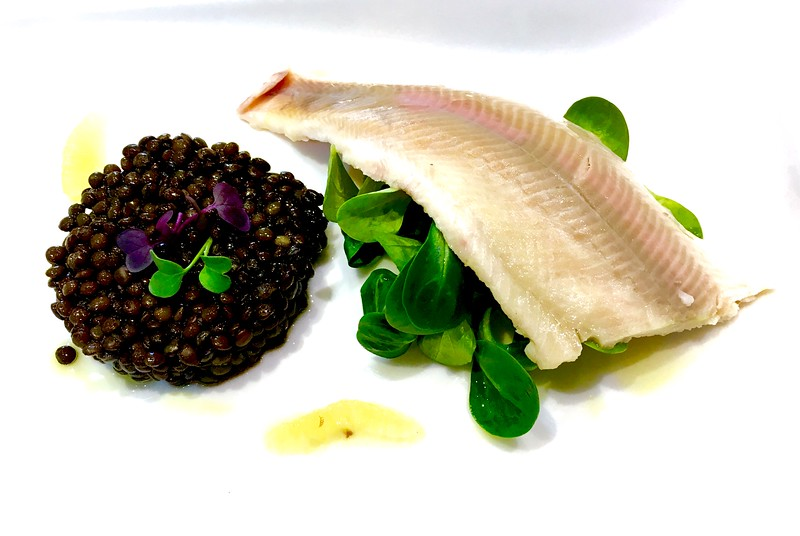 Fillet of smoked trout