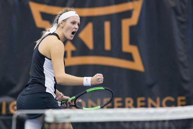 Oklahoma State Cowgirls  vs TCU Horned Frogs ITA Tennis Match, Sunday, January 29, 2017, Greenwood Tennis Center, Stillwater, OK. Bruce Waterfield/OSU Athletics