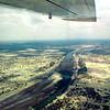 Flying over the Kalahari Desert
