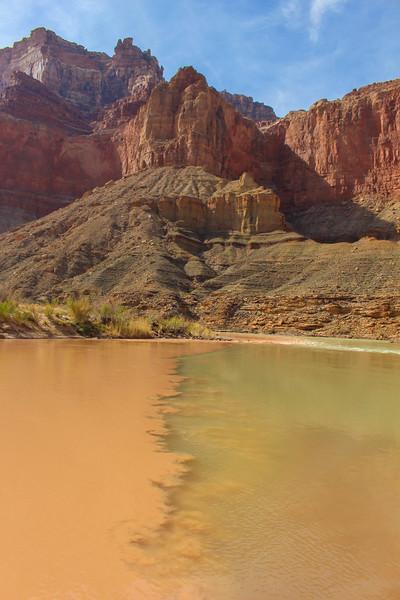 Little Colorado River merging with the Colorado