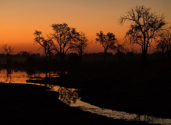 Dusk in Botswana