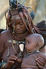 Himba-mother-and-baby-2,-Epupa,-Namibia