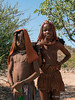 Two-young-Himba-girls,-Epupa-airstrip,-Namibia