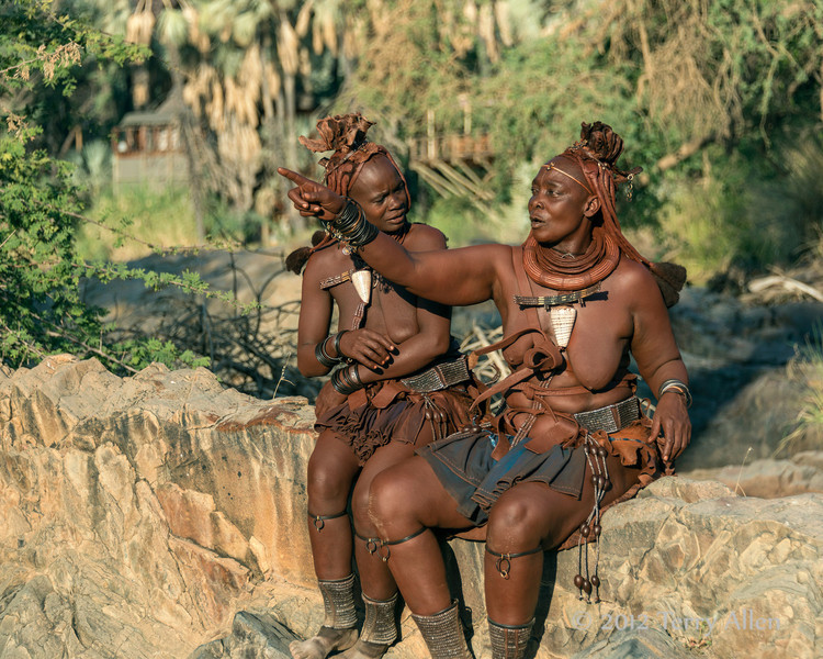 Two-Himba-women-in-conversation-2,-Epupa,-Namibia Namibia