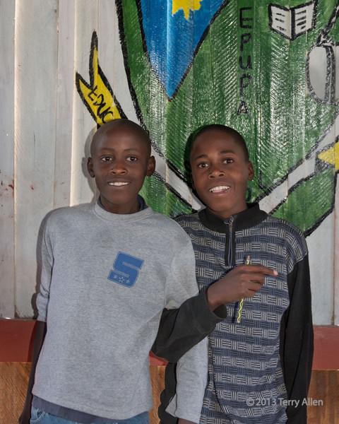 Pair-of-school-boys,-Epupa,-Namibia