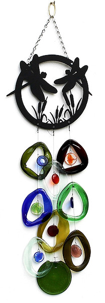 Bottle Benders Glass Wind Chimes