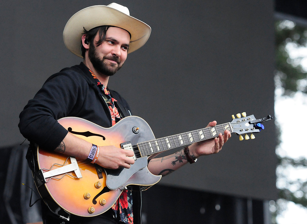 . NAPA, CA - MAY 25, Alejandro Rose-Garcia performs as Shakey Graves on the Midway Stage during the first day of BottleRock Napa Valley festival. (CHRIS RILEY/TIMES-HERALD)