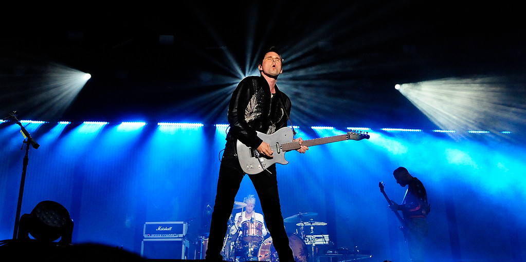. NAPA, CA - MAY 25, Muse perform on the JaM Cellars stage during the first day of BottleRock Napa Valley festival. (CHRIS RILEY/TIMES-HERALD)