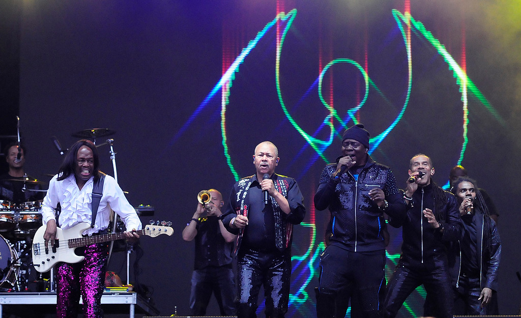 . NAPA, CA - MAY 25, Earth, Wind and Fire perform on stage during the first day of BottleRock Napa Valley festival. (CHRIS RILEY/TIMES-HERALD)
