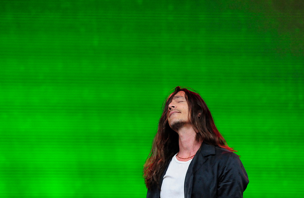 . NAPA, CA - MAY 25, Brandon Boyd performs with Incubus on the JaM Cellars stage during the first day of BottleRock Napa Valley festival. (CHRIS RILEY/TIMES-HERALD)