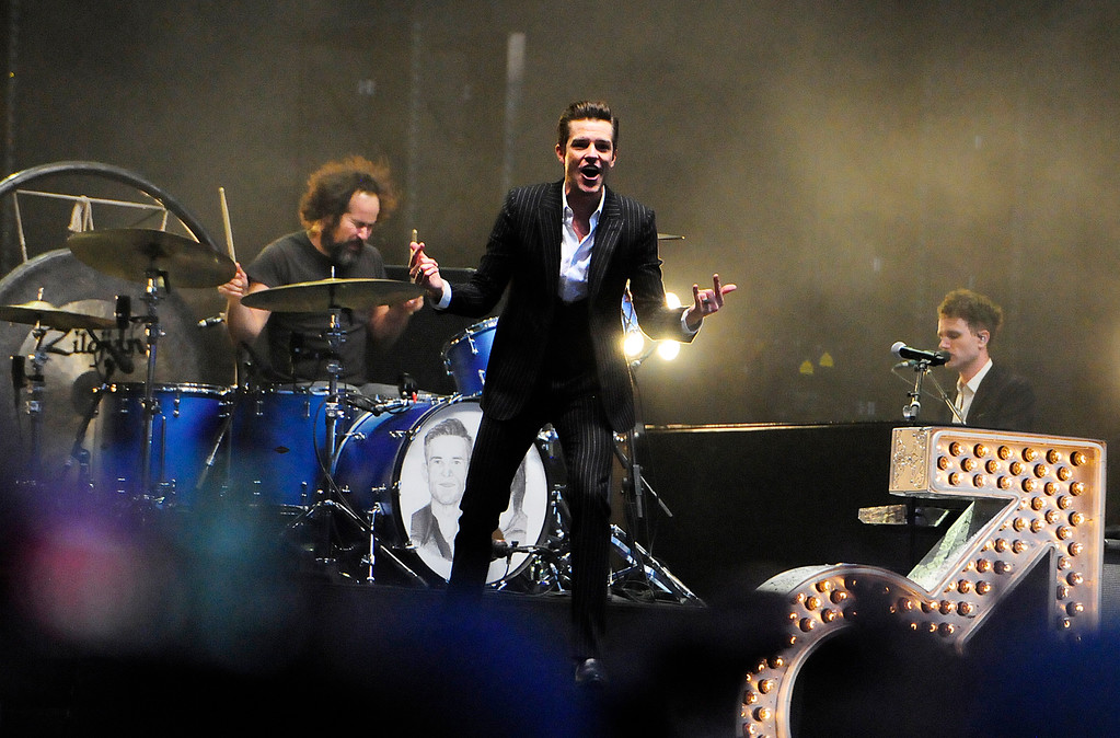 . NAPA, CA - MAY 26, Brandon Flowers performs with the Killers the JaM Cellars Stage during the second day of BottleRock Napa Valley Music Festival. (CHRIS RILEY/TIMES-HERALD)