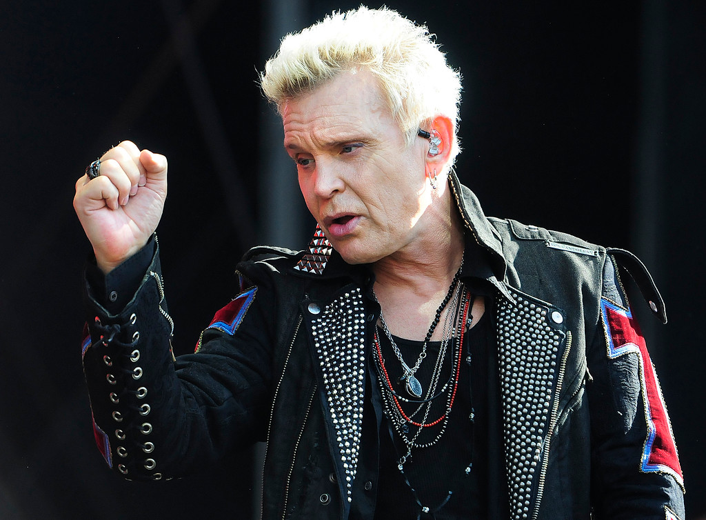 . NAPA, CA - MAY 26, Billy Idol performs on the JaMCellars Stage during the second day of BottleRock Napa Valley Music Festival. (CHRIS RILEY/TIMES-HERALD)