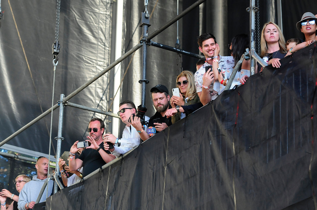 . NAPA, CA - MAY 26, Fans wait for E-40 to perform on the Midway Stage during the second day of BottleRock Napa Valley Music Festival. (CHRIS RILEY/TIMES-HERALD)