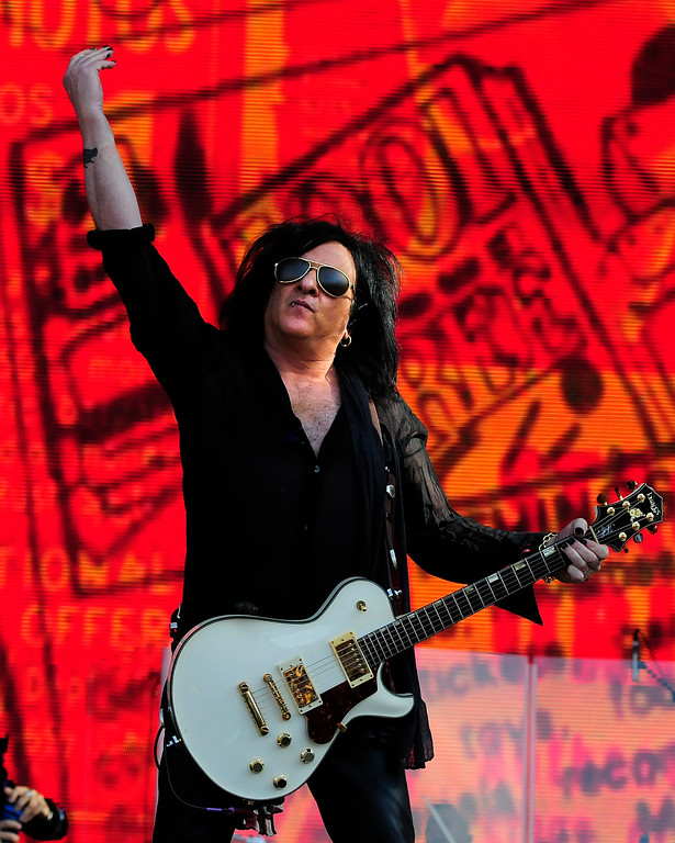 . NAPA, CA - MAY 26, Steve Stevens performs with Billy Idol on the JaMCellars Stage during the second day of BottleRock Napa Valley Music Festival. (CHRIS RILEY/TIMES-HERALD)