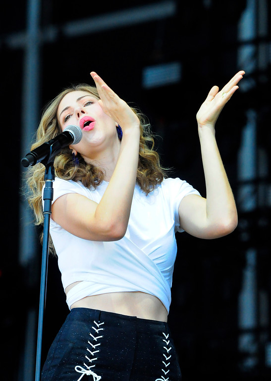 . NAPA, CA-MAY 27, Rachael Price performs with Lake Street Dive on the JaM Cellars Stage on the last day of the BottleRock Napa Valley Music Festival on Sunday.