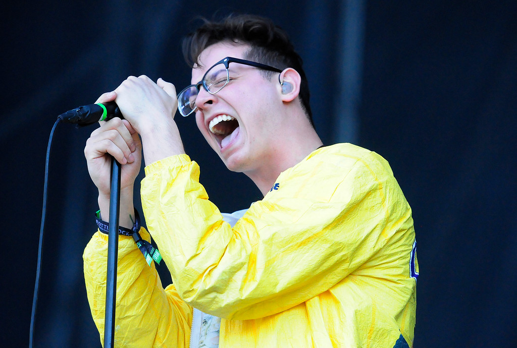. NAPA, CA - MAY 27, Nick Anderson performs with The Wrecks at the Midway Stage on the last day of the BottleRock Napa Valley Music Festival. (CHRIS RILEY/TIMES-HERALD)