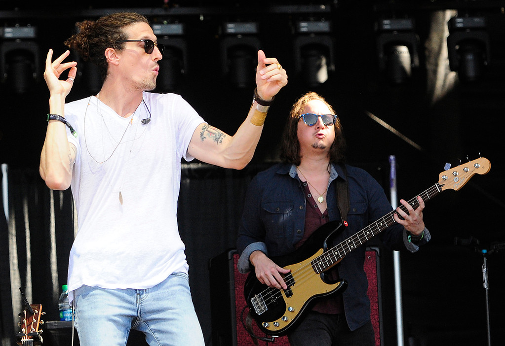 . NAPA, CA - MAY 27, Nick Shaw performs with The Revivalists on the Jam Cellars Stage on Sunday, on the last day of the BottleRock Napa Valley Music Festival. (CHRIS RILEY/TIMES-HERALD)
