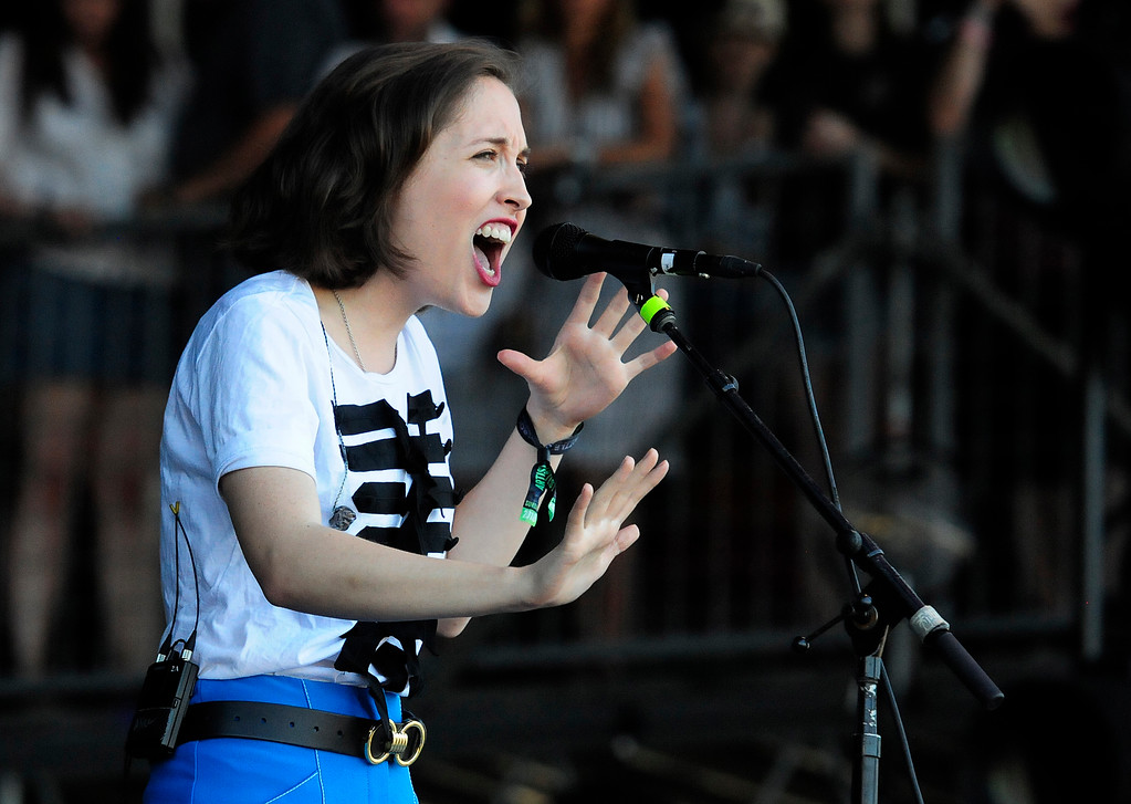 . NAPA, CA-MAY 27, Alice Merton performs on the JaM Cellars Stage on Sunday, the last day of the BottleRock Napa Valley Music Festival.