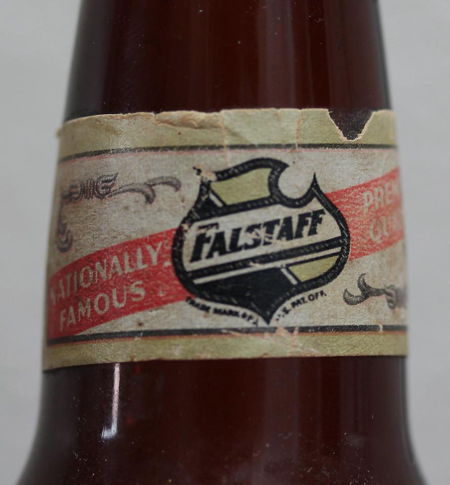 Falstaff Beer Bottle (Neck Label)
