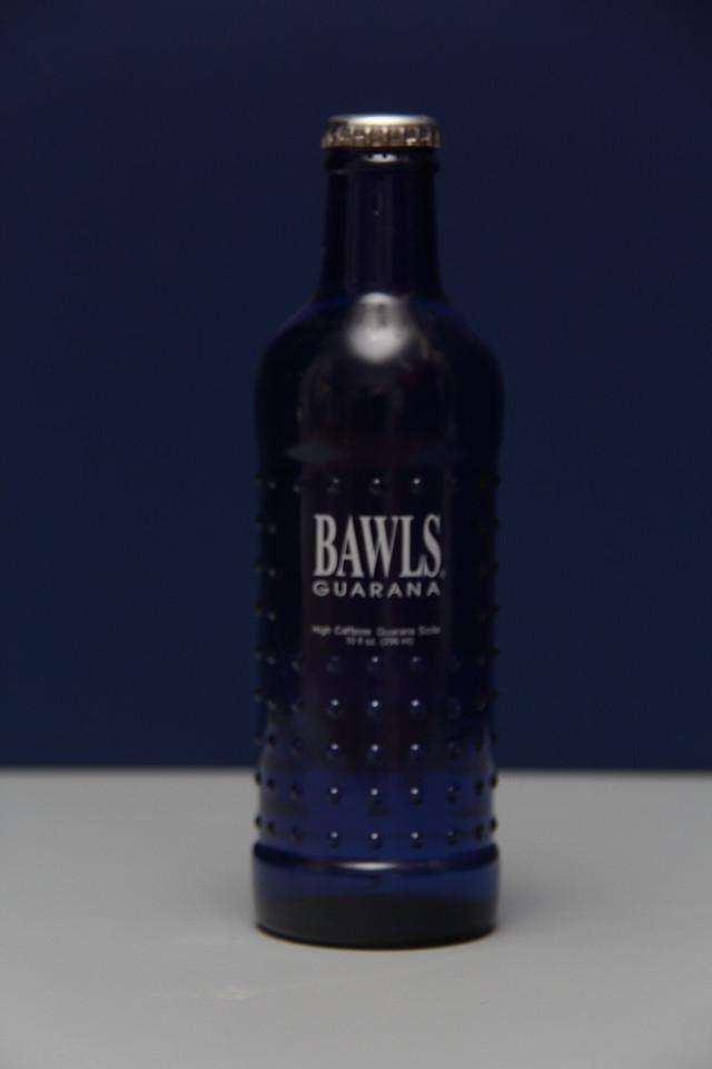 Bawls Guarana (Blue Bottle)<br /> Gift from John W. Shaffer)