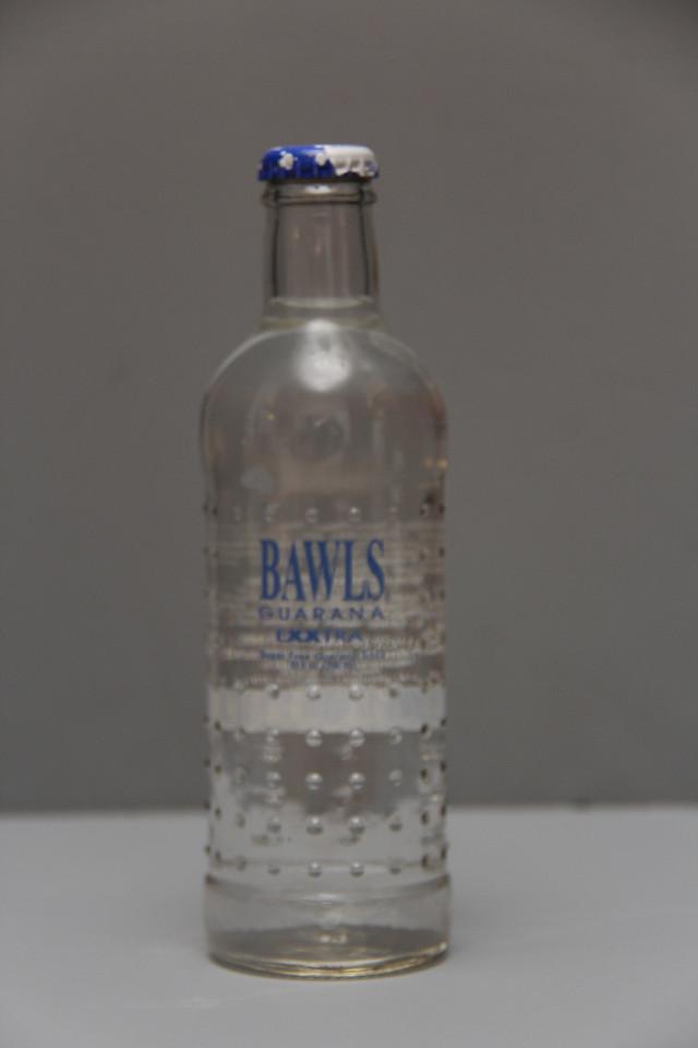 Bawls Guarana Exxtra Bottle (Clear)<br /> Gift from John W. Shaffer