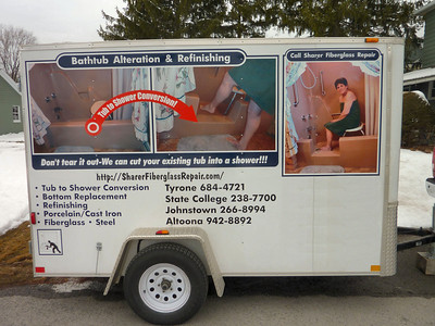 Our Business Trailer with Signage