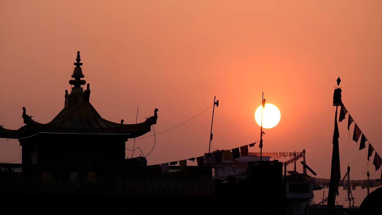Sunrise at Tharlam Monastery