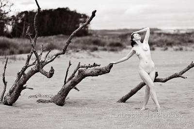 Chrissie Red - beach nude