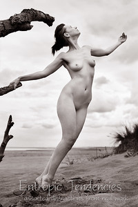 Chrissie Red - beach nude