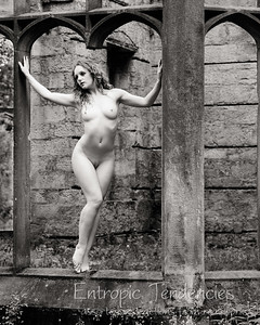 Ivory Flame - derelict building nude