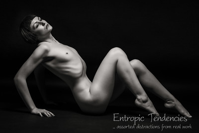 Anita De Bauch studio nude on black