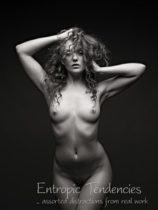 Ivory Flame - studio nude on black