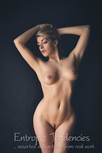 Tillie Feather - studio nude on black using window light
