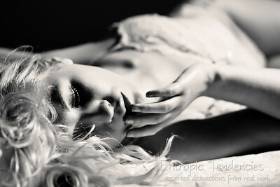 Raphaella - boudoir nude (black and white)