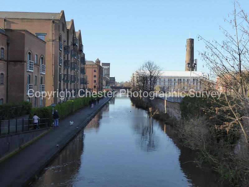 Wharton Court and Canal: Hoole Lane: Boughton