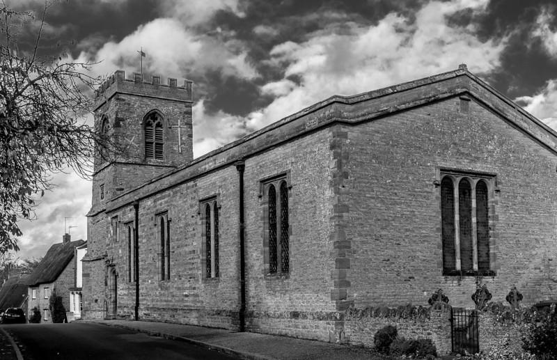 St John the Baptist looking west, Church Lane, Boughton, Northampton